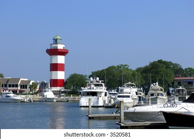 Hilton Head Island South Carolina with it's famous Harbour Town lighthouse.