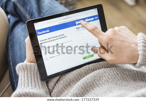 HILVERSUM, NETHERLANDS - FEBRUARY 14, 2014: Facebook is an online social networking service founded in February 2004 by Mark Zuckerberg with his college roommates and is now a fortune 500 company.