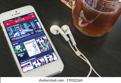 HILVERSUM, NETHERLANDS - JANUARY 07, 2014: Netflix, Inc. is an American provider of on-demand Internet streaming media available founded in 1997 by Marc Randolph and Reed Hastings