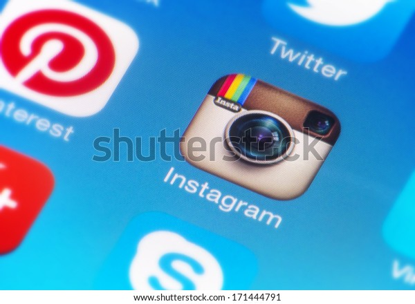 HILVERSUM, NETHERLANDS - JANUARY 15, 2014: Instagram is an online photo/video-sharing and social networking service used to take photos and videos and share them through social media.