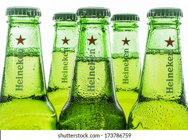 HILVERSUM, NETHERLANDS - JANUARY 19, 2014: Heineken International is a Dutch brewing company, founded in 1864 in Amsterdam. As of 2012, Heineken owns over 190 breweries in more than 70 countries