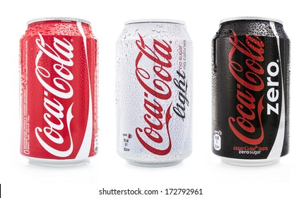 HILVERSUM, NETHERLANDS - JANUARY 23, 2014: Coca-Cola is a carbonated soft drink sold in stores, restaurants, and vending machines worldwide. It is produced by The Coca-Cola Company of Atlanta, Georgia