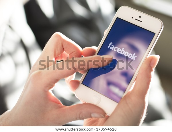 HILVERSUM, NETHERLANDS - JANUARY 28, 2014: Facebook is an online social networking service founded in February 2004 by Mark Zuckerberg with his college roommates and is now a fortune 500 company.