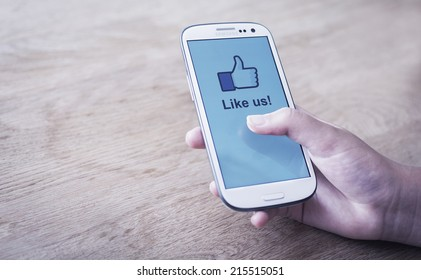 HILVERSUM, NETHERLANDS - JANUARY 30, 2014: Facebook is an online social networking service founded in February 2004 by Mark Zuckerberg with his college roommates and is now a fortune 500 company.