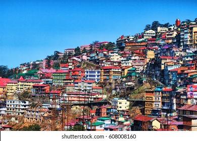 Himachal Pradesh,India/Shimla Hills/Shimla Urbanization