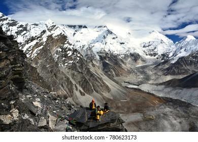 Himalaya mountains, Nepal. Majestic landscapes in beautiful nature.