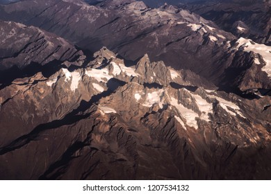 Himalaya mountains. View from the airplane. India, Ladakh