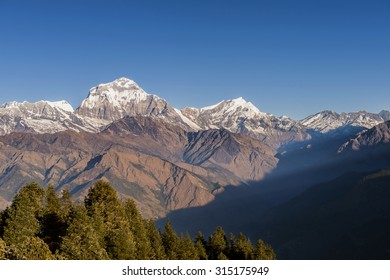 Himalaya Mountains View from Poon Hill