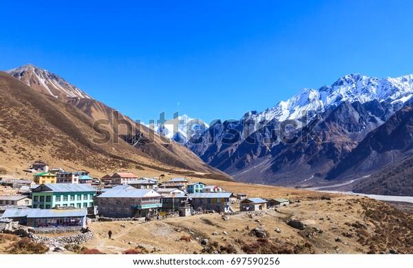 Himalaya range from Langtang National park ,Nepal