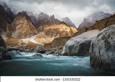 Himalaya valley  river view in Pakistan. The haven magic land for tourism who like trekking.