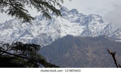Himalaya View from Kasol Market