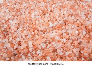himalayan salt close up