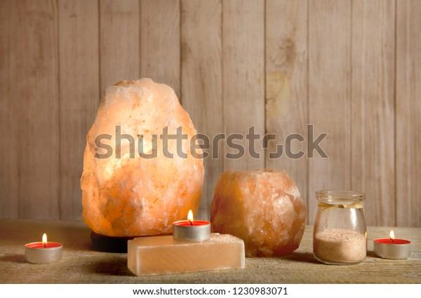 Himalayan Salt Soap Bar Pink Rock Stock Photo Edit Now