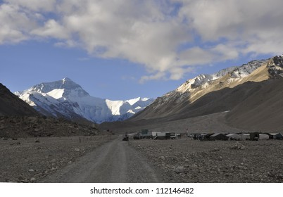 Himalayas, Mount Everest, the highest peak in the world, in Tibet, Asia