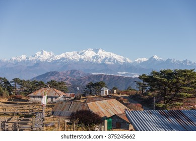 Himalayas view from Sandakphu, India
