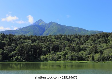 Hime marsh and Mt. Rishiri in Rishiri island, Hokkaido, Japan