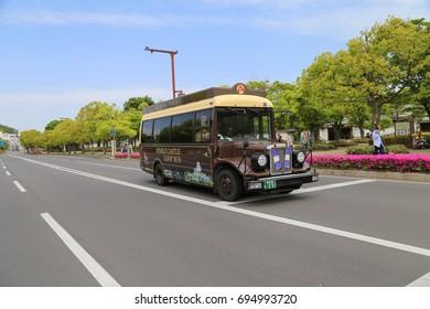 Himeji Castle Loop Bus. Himeji, Japan, May 7, 2017
