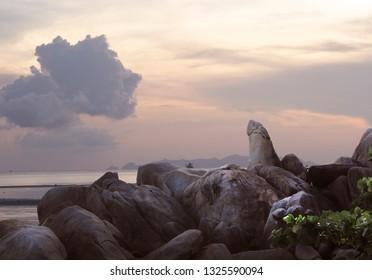 Hin Ta Hin Yai : Hinta Hinyai Koh samui Thailand. Tips: Hinta Hinyai amazing stones of Lamai beach Koh samui Thailand
