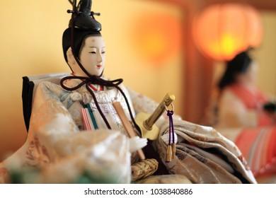 Hina doll (male doll) on Hina festival
