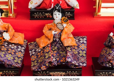 Hina doll / It is a special doll wearing a traditional Japanese costume for Doll's festival.