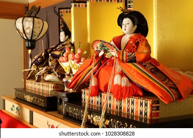 The HINA dolls/ traditional festival for girls in Japan on March 3rd.