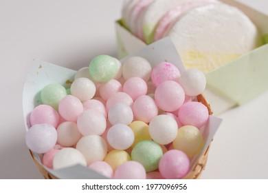 """Hina-arare"", a sweet for the Hinamatsuri festival in Japan."