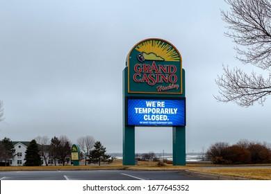 Hinckley, Minnesota/USA - March 10 2020 Grand Casino Hinckley