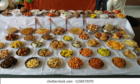 """""""Chhappan Bhog"""" is a Hindi word. Chhappan means fifty-six i.e. 56. Bhog means food which we offer to god Ganesha before serving to others. When food is offered to god, it become """"Prasad""""."""