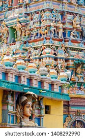 Hindu colorful temple in India