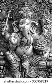 Hindu God Ganesh black and white style