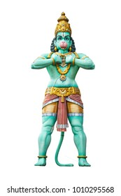 Hindu god Hanuman isolated on white