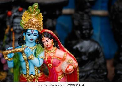 Hindu God Krishna and Radha idol