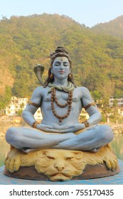 The Hindu god Shiva is meditating.