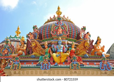 Hindu God Statues At A Hindu Temple