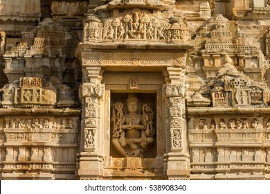 Hindu god Vishnu. Temple in the fort of Chittor. Example of  Indo-Aryan (North-Indian) architecture. Chittorgarh is the largest fort in India & Asia, it's a UNESCO World Heritage Site.