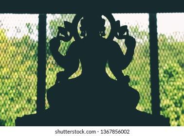 Hindu godess backlight portrait