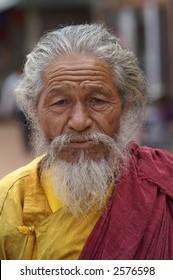 Hindu Holy Man in Nepal