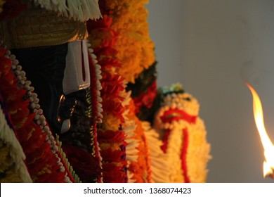 Hindu Lord Tirupati Balaji, Venkatesa or Venkateswara idol Being Worshiped