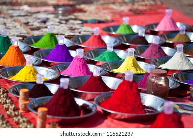 Hindu paints at the Indian market