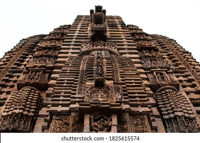 Hindu sculptures, figures and patterns on the wall of Brahmesvara Temple in Bhubaneswar, Odisha, India