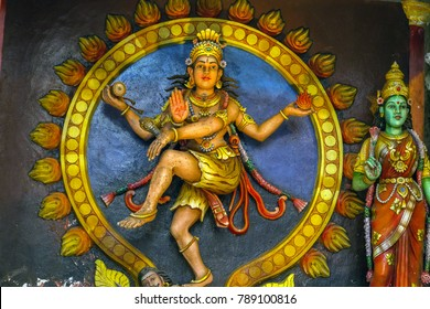 Hindu shrines, statue in Batu Caves Kuala Lumpur, Malaysia