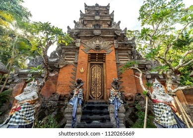 Hindu style gate and sculpture at Puri Saren Agung (Ubud Palace)