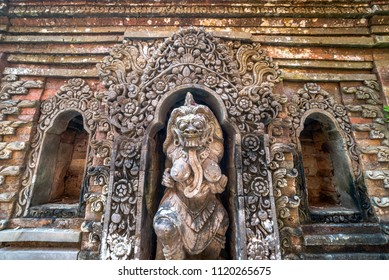 Hindu style gate and sculpture at Puri Saren Agung (Ubud Palace)