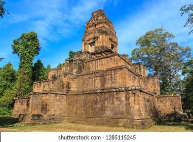Hindu temple. Baksei Chamkrong Temple. Angkor, Krong Siem Reap, Cambodia