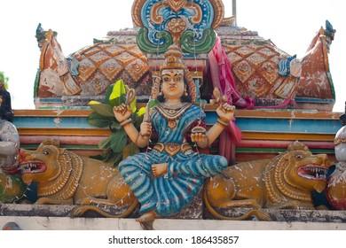 Hindu temple Gopuram city Kalkudah Island Sri Lanka