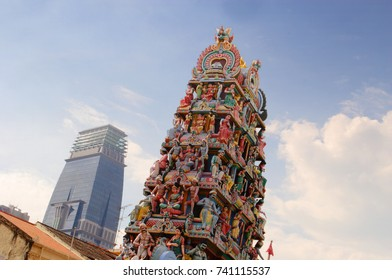 Hindu temple at Little Indian, Singapore