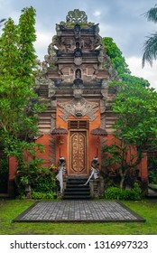 Hindu temple in Monkey Forest sanctuary in Ubud, Bali, Indonesia