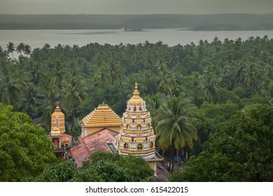 A Hindu Temple near Vegator Beach, Goa