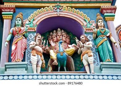 Hindu Temple Outside