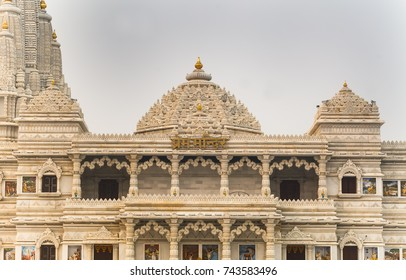 Hindu temple Prem Mandir in Vrindavan.India, Vrindavan, November 2016